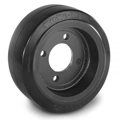 Pogonski točak za električne paletne viljuškare 230X90mm od elastična guma  sa aplikacija - primena prirubnica sa  otvori za
