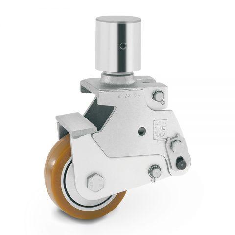 Točak stabilizacije električnih paletnih viljuškara  100X40mm od poliuretan sa dupli kuglični ležajevi  za  mašina