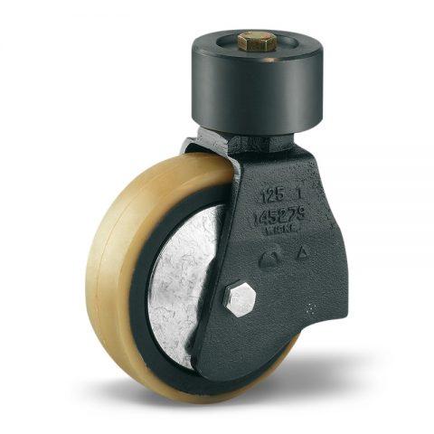 Točak stabilizacije električnih paletnih viljuškara  150X48mm od poliuretan sa dupli kuglični ležajevi  za  mašina