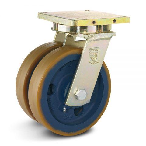 Točak stabilizacije električnih paletnih viljuškara  200X50mm od poliuretan sa dupli kuglični ležajevi  za  mašina