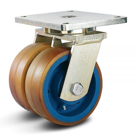 Točak stabilizacije električnih paletnih viljuškara  200X75mm od poliuretan sa dupli kuglični ležajevi  za  mašina