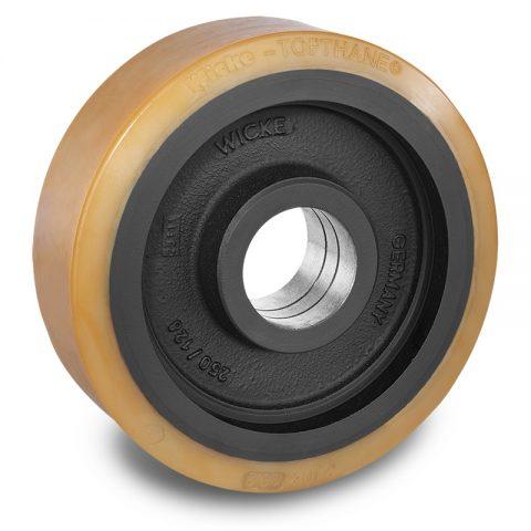 Utovarni točak za električni paletar 300X102mm od poliuretan za
