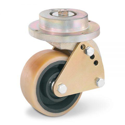Točak stabilizacije električnih paletnih viljuškara  140X60mm od poliuretan sa dupli kuglični ležajevi  za  mašina