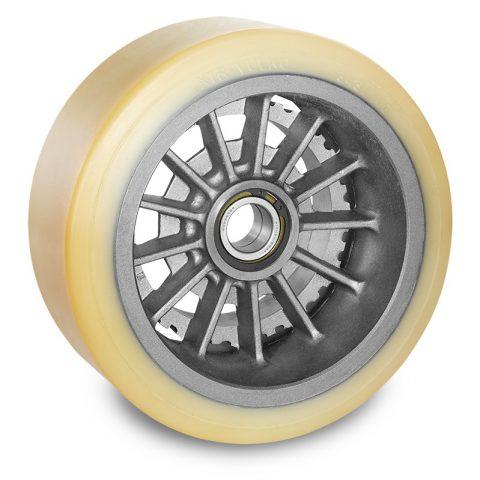 Utovarni točak za električni paletar 343X146mm od poliuretan za