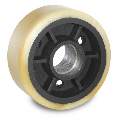 Utovarni točak za električni paletar 250X100mm od poliuretan za