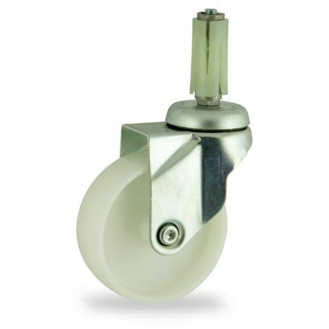 Okretni točak,150mm za lagana kolica, sa točkom od poliamid tip 6 osovina kliznog ležaja montaža sa ekspander