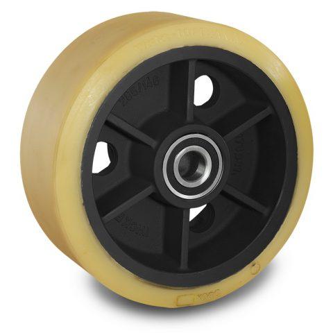 Utovarni točak za električni paletar 343X140mm od poliuretan za
