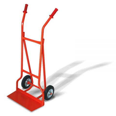 Transportna kolica sa dva točka od crne gume od 200mm i sa pločom 210x500mm