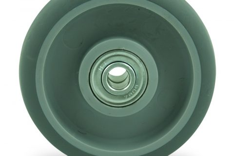 Točak 100mm za lagana kolica, sa točkom od termoplastika siva neobeležena guma kuglični ležajevi