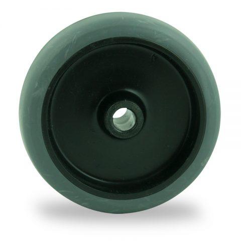 Točak 50mm za lagana kolica, sa točkom od termoplastika siva neobeležena guma osovina kliznog ležaja