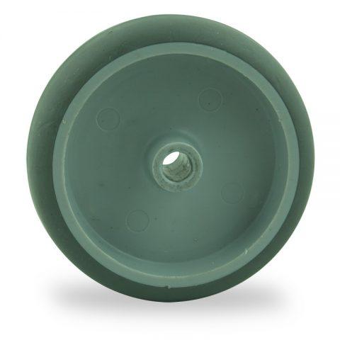 Točak 75mm za lagana kolica, sa točkom od termoplastika siva neobeležena guma osovina kliznog ležaja