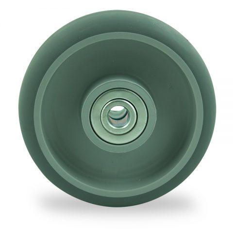 Točak 150mm za lagana kolica, sa točkom od termoplastika siva neobeležena guma kuglični ležajevi