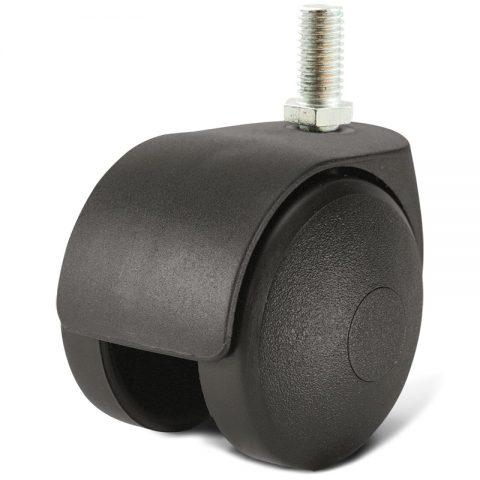 Točak za kancelarijsku stolicu i za nameštaj 40mm sa navoj M08X12