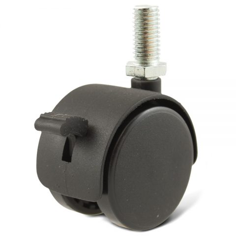 Točak za kancelarijsku stolicu i za nameštaj sa kočnicom 40mm sa navoj M08X12