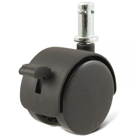 Točak za kancelarijsku stolicu i za nameštaj sa kočnicom 40mm sa šipka 11X22mm