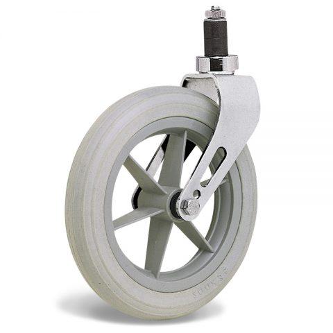 Točak  200mm za invalidska kolica sa termoplastika siva neobeležena guma i kuglični ležajevi i montaža sa ekspander