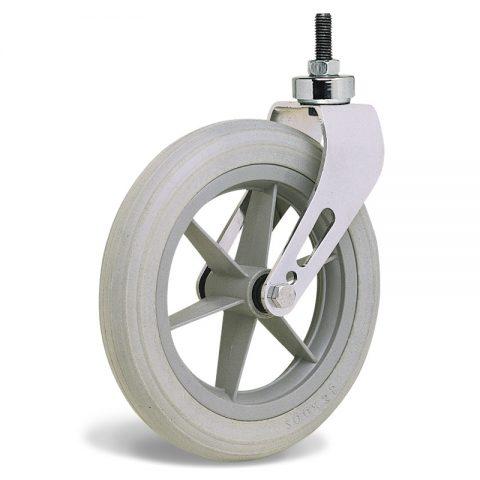 Točak  200mm za invalidska kolica sa termoplastika siva neobeležena guma i kuglični ležajevi i montaža sa navoj