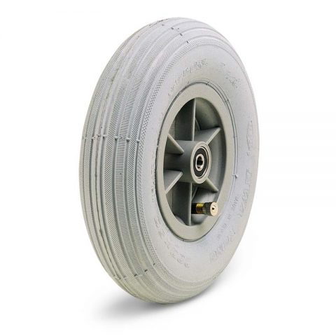 Točak  175mm za invalidska kolica sa termoplastika siva neobeležena guma i kuglični ležajevi