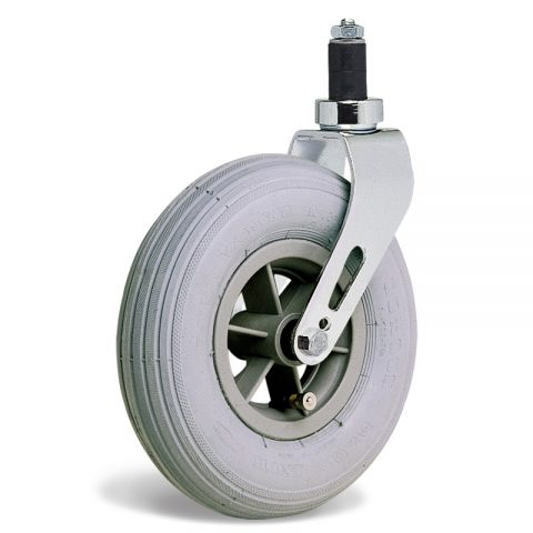 Točak  175mm za invalidska kolica sa termoplastika siva neobeležena guma i kuglični ležajevi i montaža sa ekspander