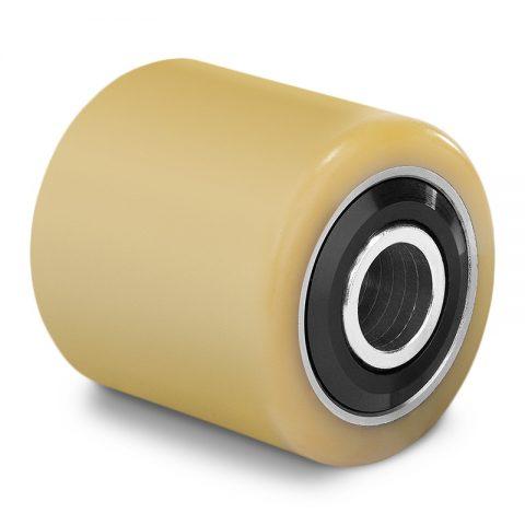 Utovarni točak za električni paletar 85X105mm od poliuretan sa dupli kuglični ležajevi  i osovina