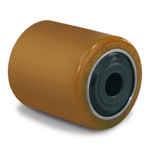 Utovarni točak za električni paletar 85X100mm od poliuretan sa dupli kuglični ležajevi  i osovina