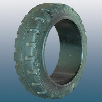 Montažni prsten za električni paletni viljuškar 405X130mm od crna guma