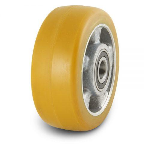 Točkovi podrške električnih paletnih viljuškara  140X54mm od poliuretan sa dupli kuglični ležajevi  i osovina za  mašina