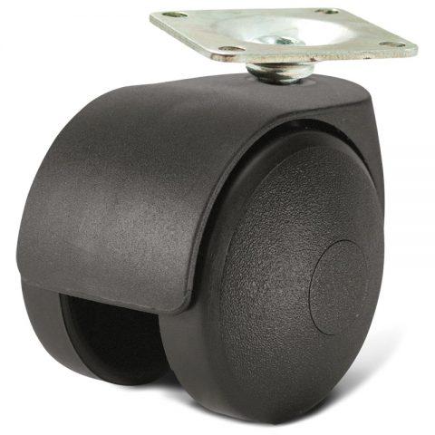 Točak za kancelarijsku stolicu i za nameštaj 45mm sa gornja ploča 35x35mm