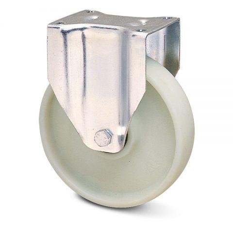 INOX fiksni točak za kolica  200mm sa poliamid + staklena vlakna  inox kuglični ležajevi.Montaža sa gornja ploča