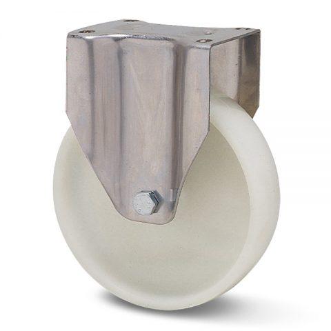 INOX fiksni točak za kolica  150mm sa polipropilen  osovina kliznog ležaja.Montaža sa gornja ploča