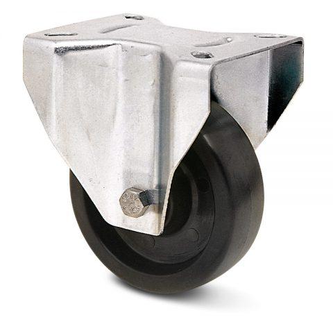 INOX fiksni točak za pekare  100mm για Smola (280C) osovina kliznog ležaja.Montaža sa gornja ploča