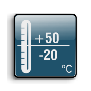 Working temperature from -20C up to +50C