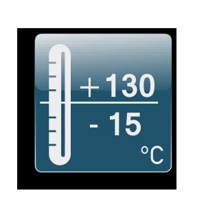 Rad od -15C do +130C