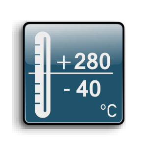 Working temperature from -40C up to +280C
