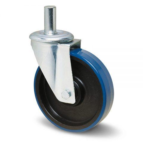 Okretni točak za kolica  175mm sa poliuretan, felna od poliamid i osovina kliznog ležaja.Montaža sa šipka