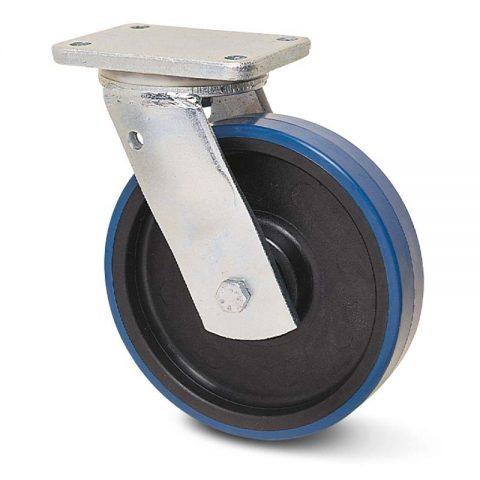 Okretni točak za teške uslove  175mm sa poliuretan, felna od poliamid i valjkasti ležaj.Montaža sa gornja ploča