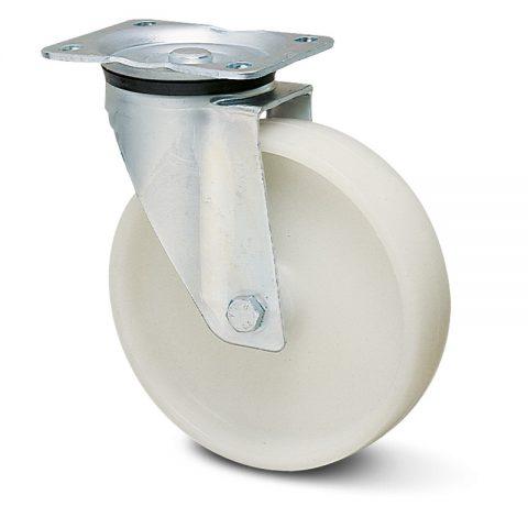 Okretni točak za kolica  80mm sa polipropilen  osovina kliznog ležaja.Montaža sa gornja ploča