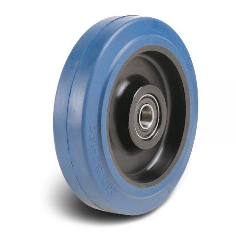 Točak  100mm od elastična guma za čiste podloge sa felna od poliamid i Inox kuglični ležajevi