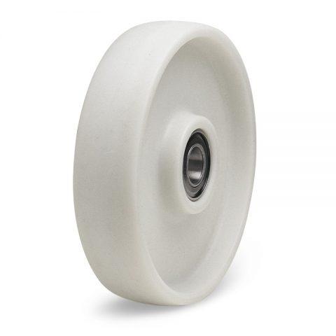 Točak  125mm od poliamid + staklena vlakna  za 130C i kuglični ležajevi