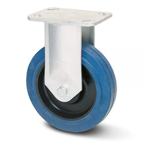 Fiksni točak serije G  160mm sa elastična guma za čiste podloge, felna od poliamid i kuglični ležajevi.Montaža sa gornja ploča