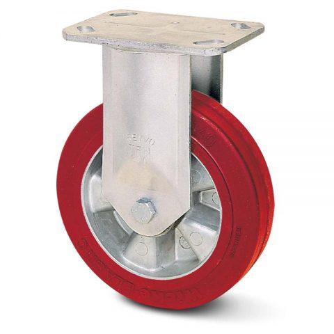 Fiksni točak serije G  160mm sa elastični poliuretan, felna od aluminijum i kuglični ležajevi.Montaža sa gornja ploča