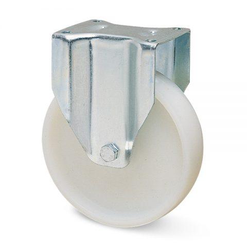 Fiksni točak za kolica  150mm sa poliamid tip 6 kuglični ležajevi.Montaža sa gornja ploča