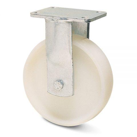 Fiksni točak za teške uslove  150mm sa poliamid tip 6 kuglični ležajevi.Montaža sa gornja ploča