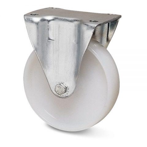 Fiksni točak za kolica  125mm sa poliamid tip 6 osovina kliznog ležaja.Montaža sa gornja ploča