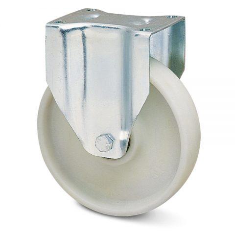 Fiksni točak za kolica  150mm sa poliamid + staklena vlakna  kuglični ležajevi.Montaža sa gornja ploča