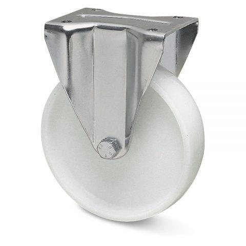 Fiksni točak za teške primene  100mm sa poliamid tip 6 osovina kliznog ležaja.Montaža sa gornja ploča