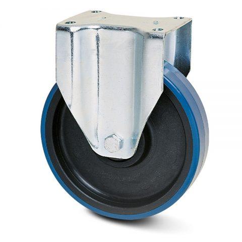 Fiksni točak za kolica  175mm sa poliuretan, felna od poliamid i osovina kliznog ležaja.Montaža sa gornja ploča