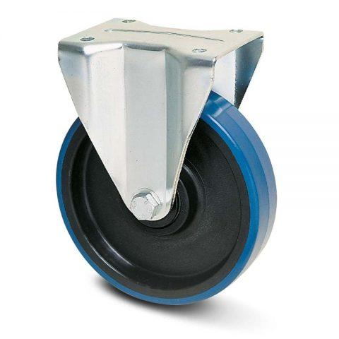 Fiksni točak za teške primene  80mm sa poliuretan, felna od poliamid i osovina kliznog ležaja.Montaža sa gornja ploča