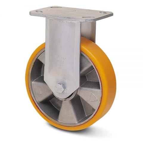 Fiksni točak serije G  180mm sa poliuretan, felna od aluminijum i kuglični ležajevi.Montaža sa gornja ploča