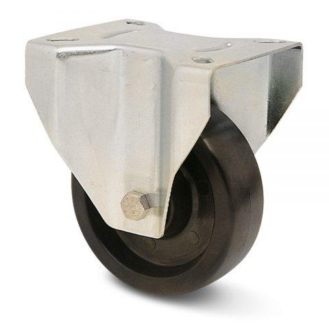 Fiksni točak za pekare  125mm για Smola (280C) osovina kliznog ležaja.Montaža sa gornja ploča